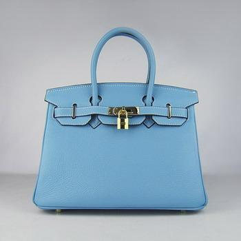 HBK30LBG012 Birkin 30CM Light Blue (gold)