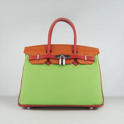 HBK30ROG002 Birkin 30CM Red.Orange.Green (silver))