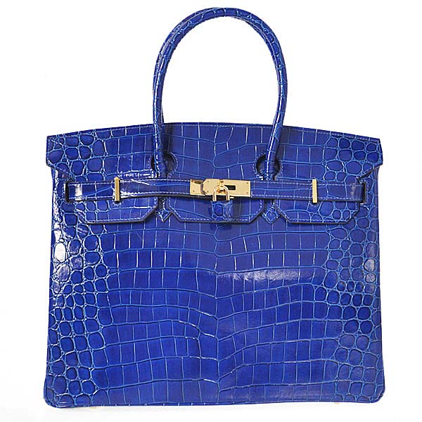 H35HLCBG Hermes Birkin 35CM high light Crocodile leather in Black with Gold hardware