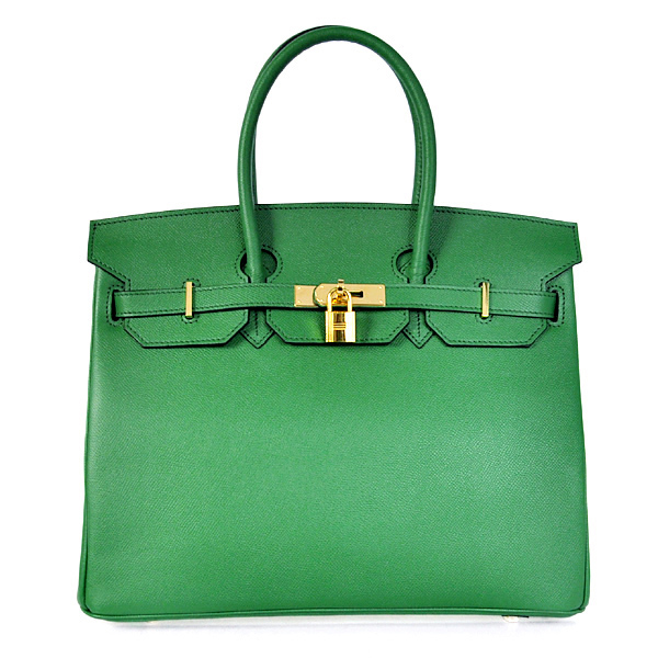 H35PSDGG Hermes Birkin 35CM Palm stripes leather in Dark green with Gold hardware