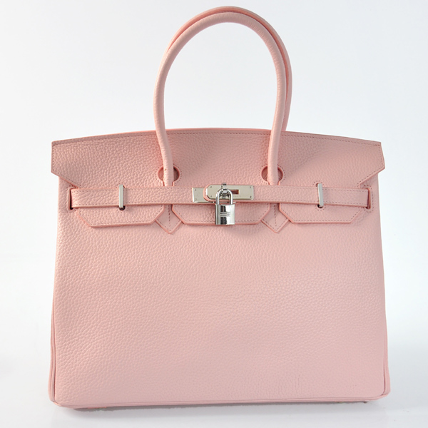 H35LSPS Hermes Birkin 35CM clemence leather in Pink with Silver hardware
