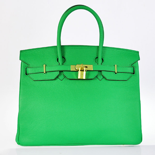H35BJDGG Hermes Birkin 35CM togo leather in Dark green with Gold hardware