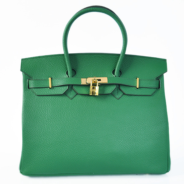 H35LDGG Hermes Birkin 35CM clemence leather in Dark green with Gold hardware