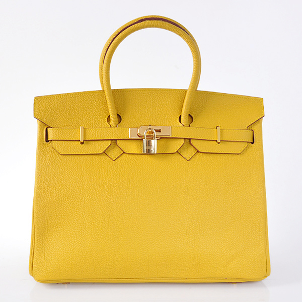 H35BJYG Hermes Birkin 35CM togo leather in Yellow with Gold hardware