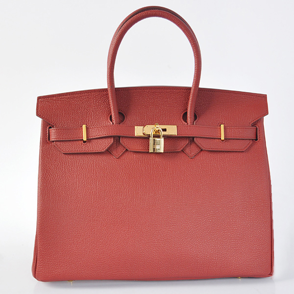 H35BJPRG Hermes Birkin 35CM togo leather in Purplish red with Gold hardware