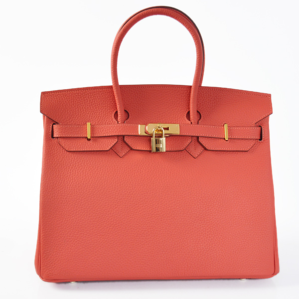 H35LWRG Hermes Birkin 35CM clemence leather in Watermelon Red with Gold hardware
