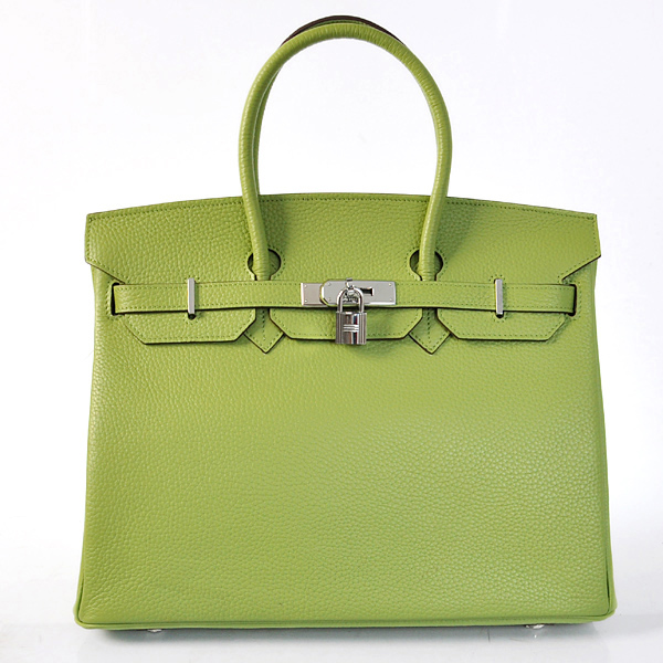 H35LLGG Hermes Birkin 35CM clemence leather in Light green with Gold hardware