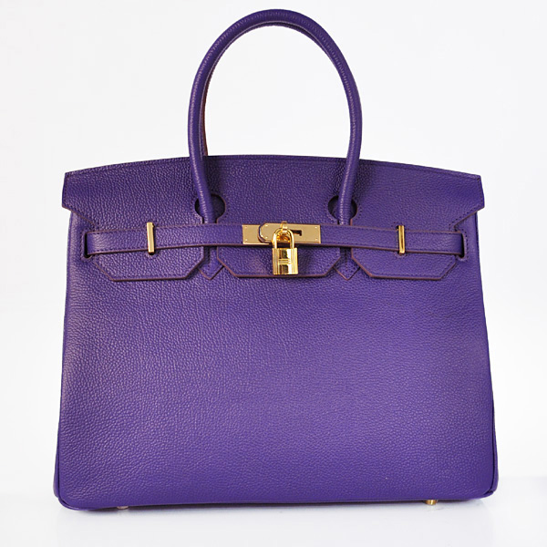 H35BJIPG Hermes Birkin 35CM togo leather in Iris Purple with Gold hardware