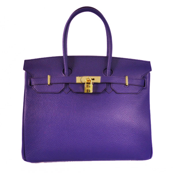 H35LIPG Hermes Birkin 35CM clemence leather in Iris Purple with Gold hardware