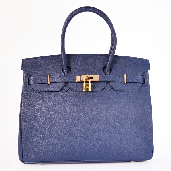 H35BJDBG Hermes Birkin 35CM togo leather in Dark Blue with Gold hardware