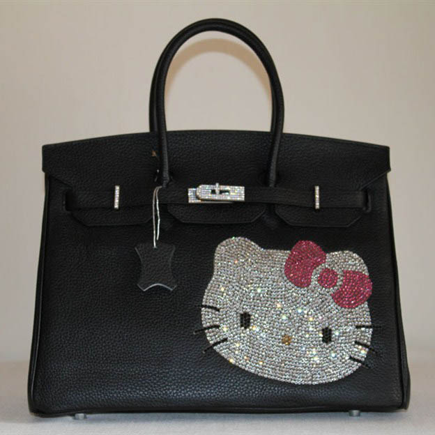 HK0001 Hermes Birkin Hello Kitty 35CM Togo Leather Bag Black HK0001