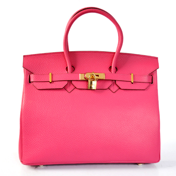 H35LSPG Hermes Birkin 35CM clemence leather in Peach with Gold hardware