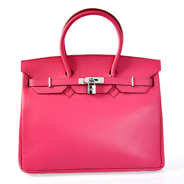 H35LSPS Hermes Birkin 35CM clemence leather in Peach with Silver hardware