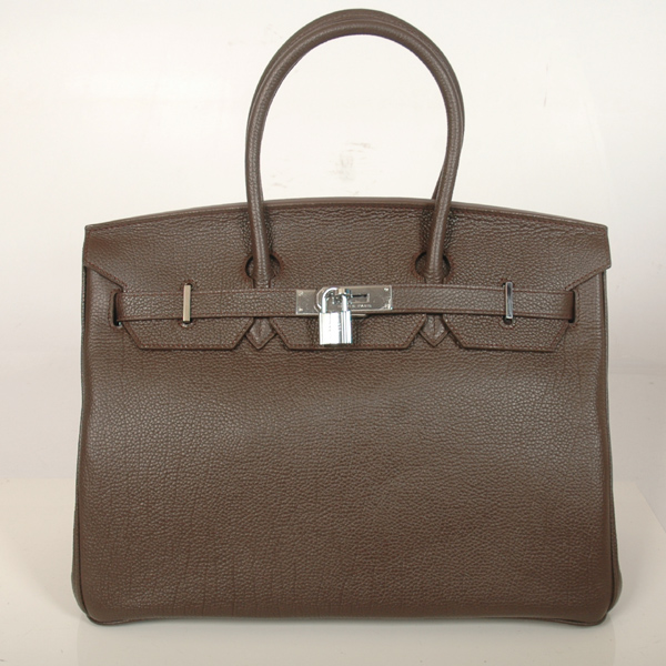 H35POSG Hermes Birkin 35CM togo leather in Dark Brown with Silver hardware