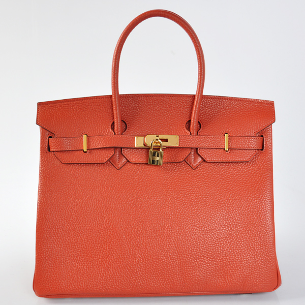 H35CRLSG Hermes Birkin 35CM Cuckoo red clemence leather(Gold)