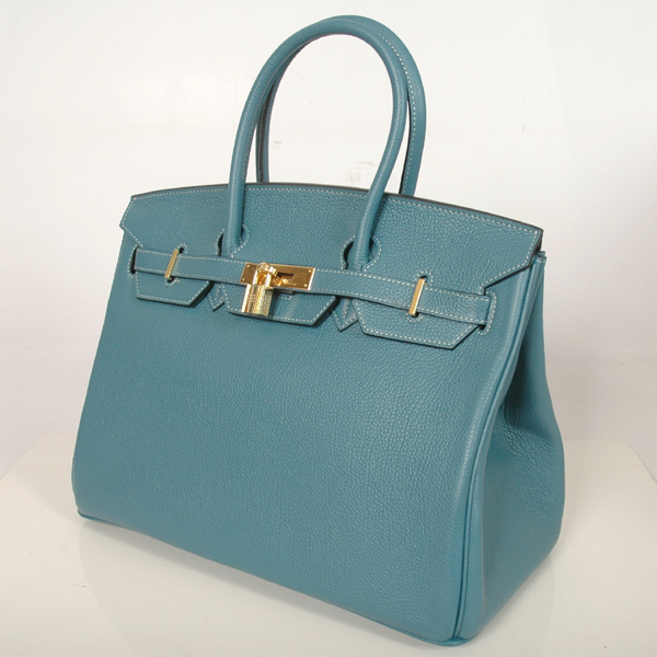 H35MBBJSG Hermes Birkin togo leather 35CM Medium Blue togo(Gold)