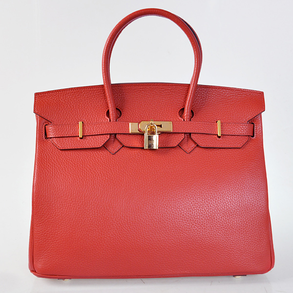 H35FLSG Hermes Birkin 35CM Flame clemence leather(Gold)