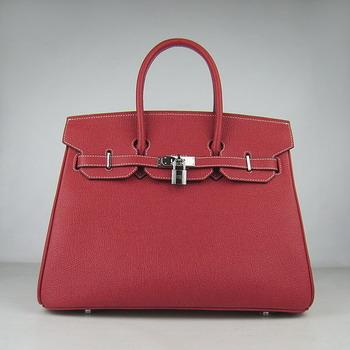 HBK35RCSS19 Hermes 35CM Red Cowhells Stripe (silver)
