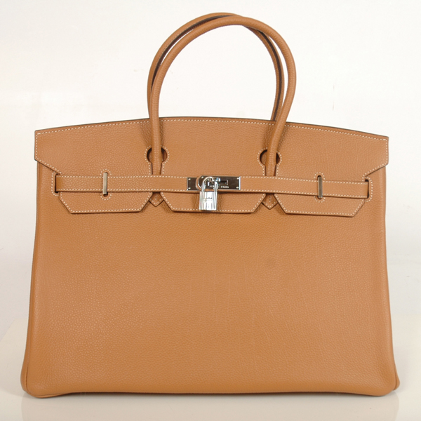 H40BJCS Hermes Birkin togo leather 40CM togo in Camel with Silver hardware
