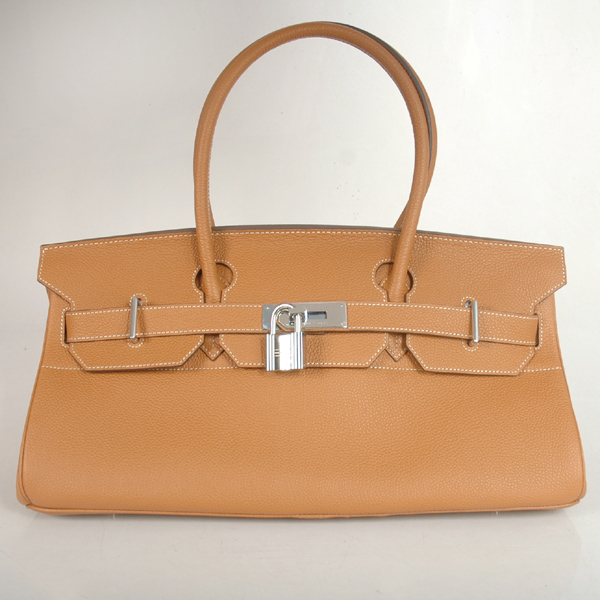 H42BJCS Hermes Birkin togo leather 42CM togo in Camel with Silver hardware