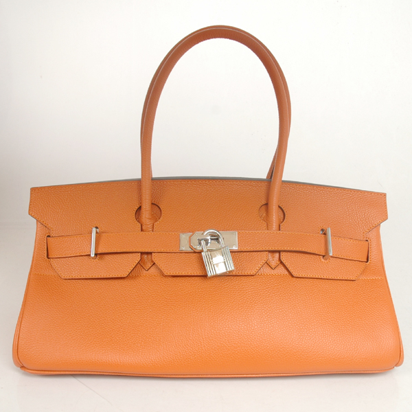 H42BJOS Hermes Birkin togo leather 42CM togo in Orange with Silver hardware