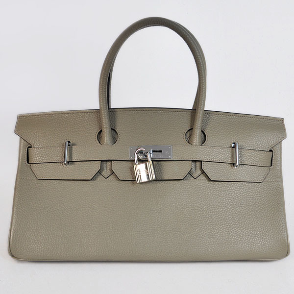 H42LSGS Hermes Birkin 42CM clemence leather in Silver Grey with Silver hardware