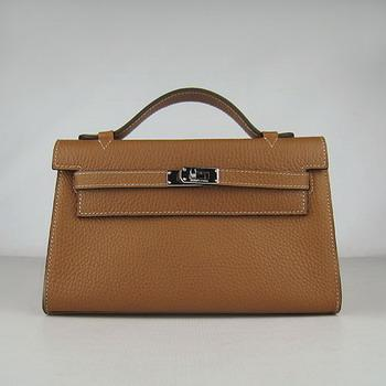 HKL220LCS024 HERMES 22CM H008 Light Coffee(Silver)