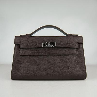 HKL220DCS021 HERMES 22CM H008 Dark Coffee(Silver)