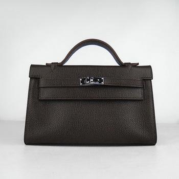 HKL22CNSDC15 Hermes Kelly 22CM Cattle Neck Stripe Dark Coffee