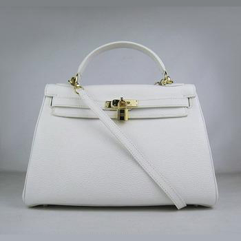 HKL32O0WG014 Hermes Kelly Handbags 32CM White(gold)