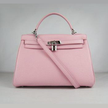 HKL32O0PS012 Hermes Kelly Handbags 32CM Pink(silver)