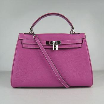 HKL32O0PS011 Hermes Kelly Handbags 32CM light Purple(silver)