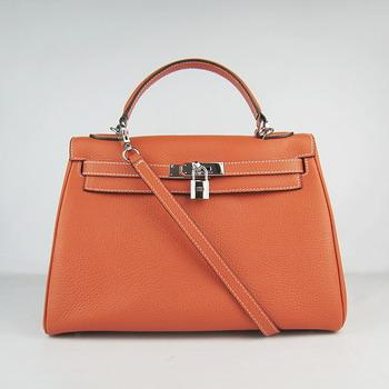 HKL32O0OS010 Hermes Kelly Handbags 32CM Orange(silver)