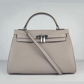 HKL32O0GS006 Hermes Kelly 32CM Grey(silver)