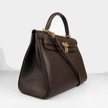 HKL32ODCG004 Hermes Kelly 32CM Dark Coffee(gold)
