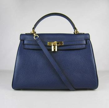HKL32ODBG003 Hermes Kelly 32CM Dark Blue(gold)