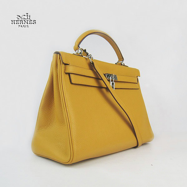 ... 50% off 6308 hermes kelly 35cm togo leather bag yellow 6308 silver  hardware ab0ff 8f757 86a6bc995a42b