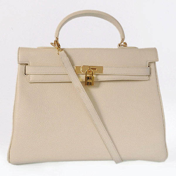 HKL35C Hermes kelly 35CM Cream togo leather(Gold)