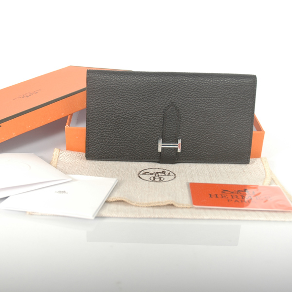 H2WBLLB Hermes 2 fold wallet leather in Black