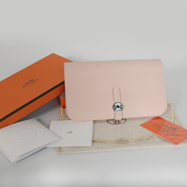 HPW01P Hermes passport Wallet leather in Pink