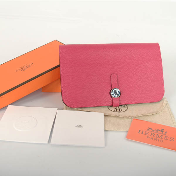 HPW00P Hermes passport Wallet leather in Peach