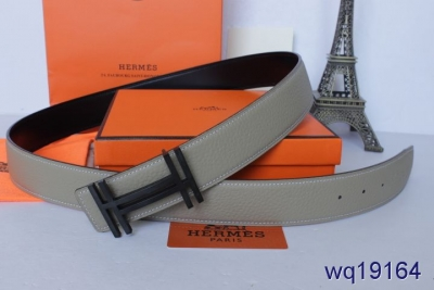 Cheap Grey with Black H Buckle Hermes Belt Mens Sale