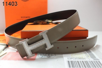 Luxury Mens Hermes Grey with Silver H Buckle Belt On sale