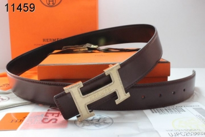 Buy Hermes with Golden H Buckle Mens Chocolate Belt
