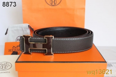 Exclusive Mens Hermes with Chocolate H Buckle Chocolate Belt