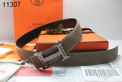 Freshest Mens with Black H Buckle Hermes Belt Chocolate