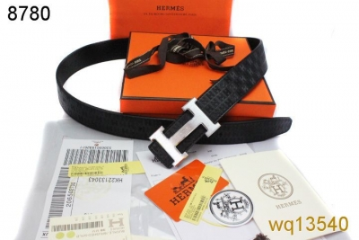 Belt Mens Black Hermes with Silver H Buckle Clearance Sale