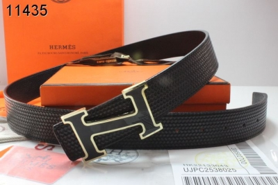 Black Mens Belt Hermes with Black H Buckle Promote