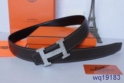 Black Mens Belt with Silver H Buckle Hermes Online