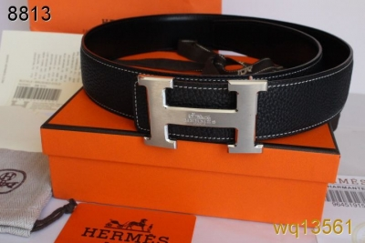 Black Belt Hermes Mens with Silver H Buckle Cheap Sale